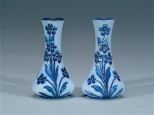 Moorcroft Pair Macintyre Miniature Vases, c.1900-02