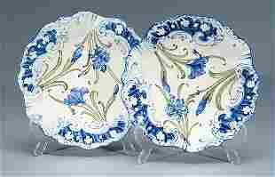 Moorcroft Pair of Macintyre Dubarry Plates, c.1902