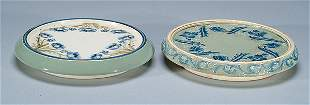 Moorcroft Two Macintyre Dura Ware Trivets, c.1902
