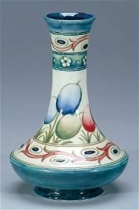 258: Moorcroft Banded Honesty Vase, c.1925-30