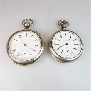 Two Openface Pocket Watches, a Waltham key wind,