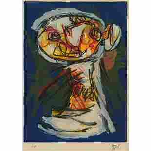 Karel Appel (1921-2006), UNTITLED (COMPOSITION SUR FOND