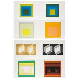 Josef Albers (1888–1976), FOUR PLATES (FROM THE FOLIO