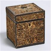 George III Paper Filigree Tea Caddy, late 18th century,