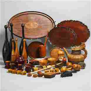 Miscellaneous Collection of Treen, 19th/20th centuries,