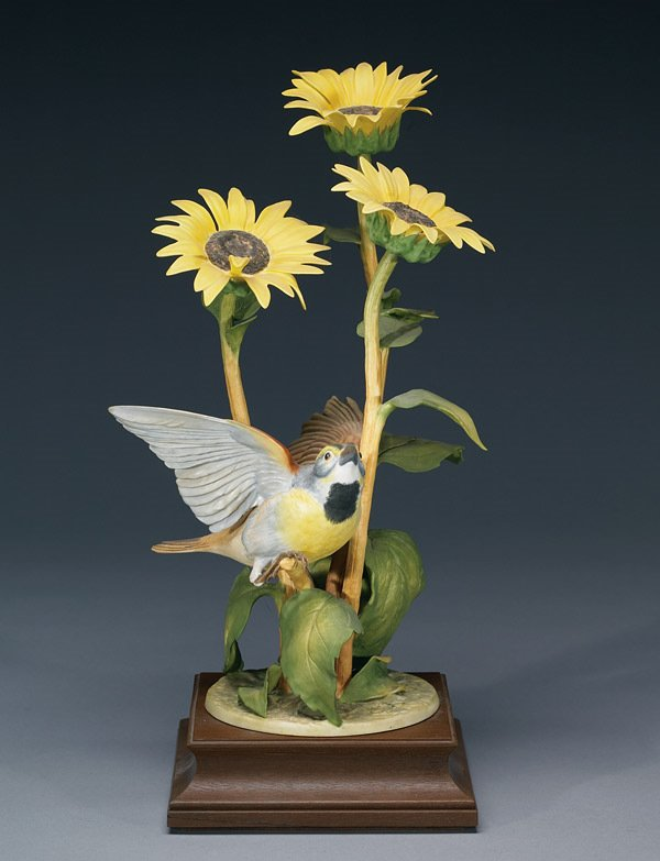 1006: Royal Worcester Dickcissel and Sunflower RW3993