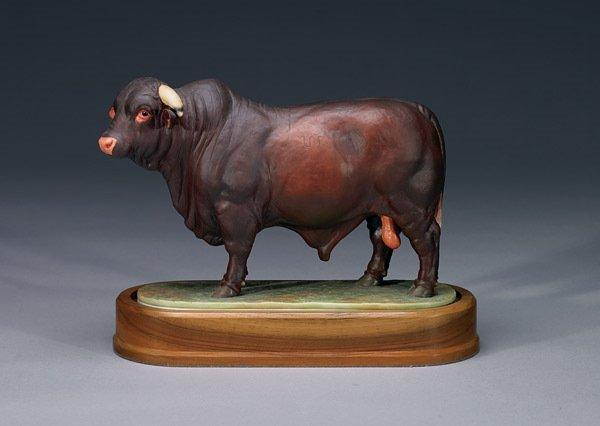 1012: Royal Worcester Santa Gertrudis Bull RW3702
