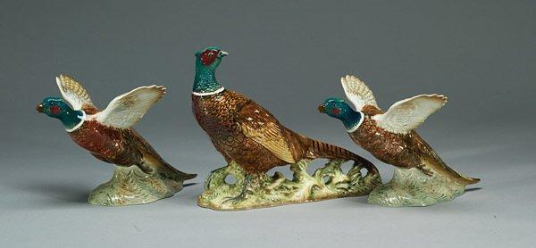 1019: Beswick Pheasant #1225, Pheasant #849 and P