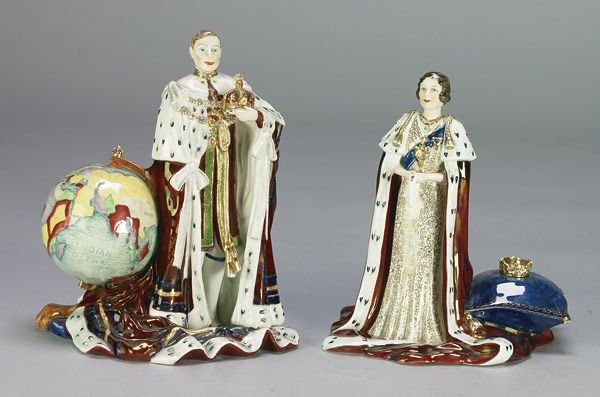 1019A: Royal Doulton George VI and Queen Elizabe