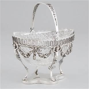 German Silver Sugar Basket, probably Hanau, late 19th