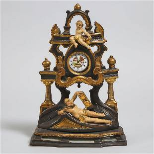 Austrian Carved, Polychromed and Parcel Gilt Watch