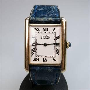 Must De Cartier Wristwatch, circa 1990's; case