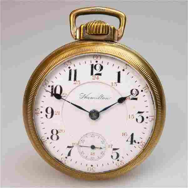 Hamilton Openface Stem Wind '940' Pocket Watch, circa