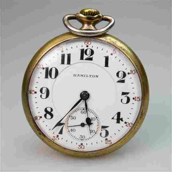 Hamilton Openface Stem Wind '992' Pocket Watch, circa