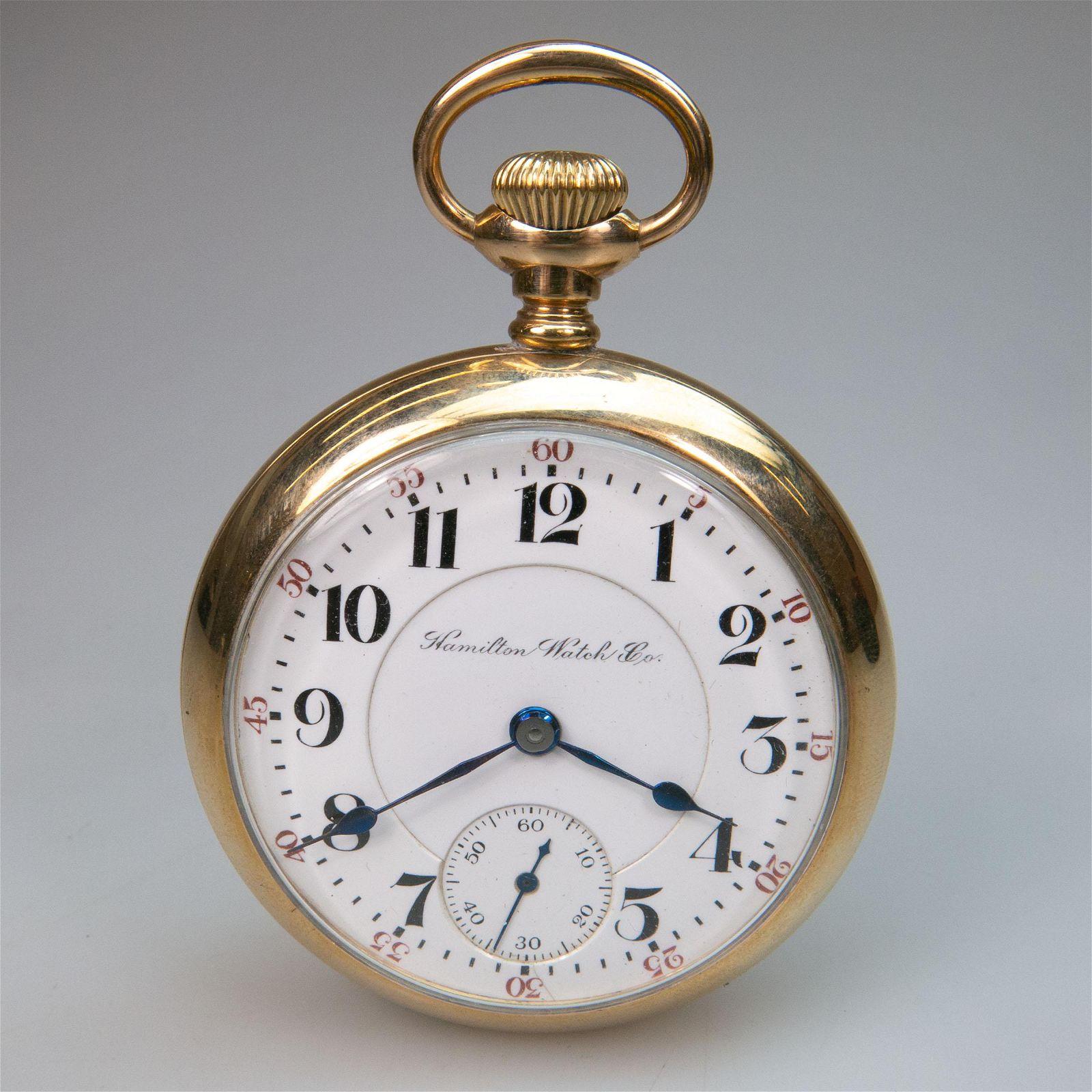 Hamilton Openface Stem Wind Pocket Watch, circa 1905;