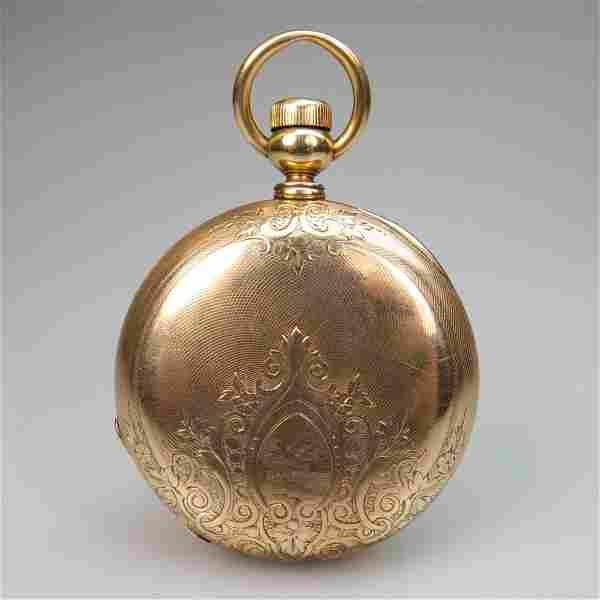 Elgin Key Wind Pocket Watch, circa 1874; serial #383185;