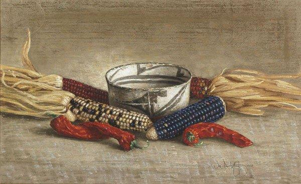 1005A: American, William Acheff (1947- ), NAVAHO POT