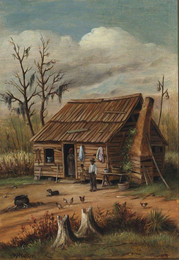 1011: American,W. A. Walker (1838-1921), SOUTHERN CABIN