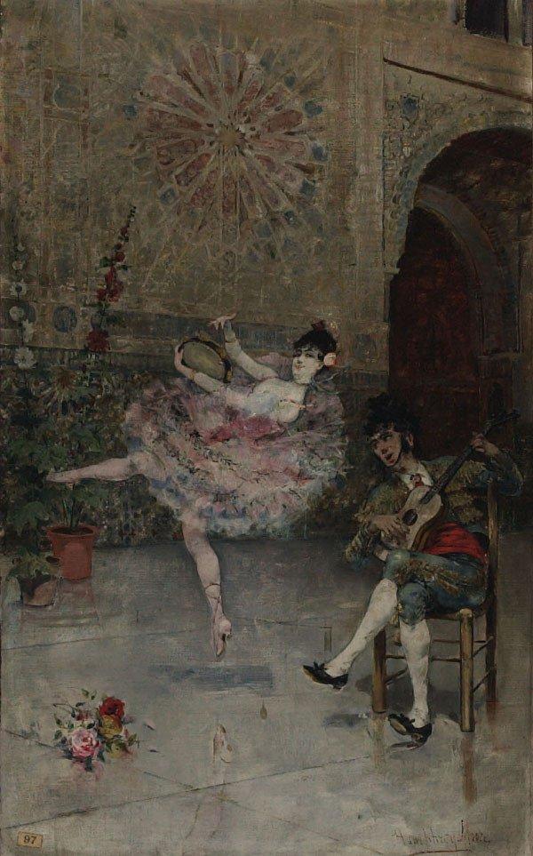 1013: American, Harry H. Moore, FLAMENCO DANCER