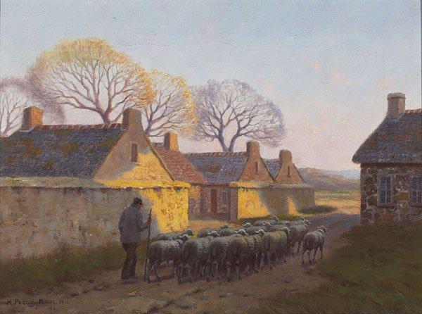 1015: American, Hiram Peabody Flagg, HEADING HOME DOW