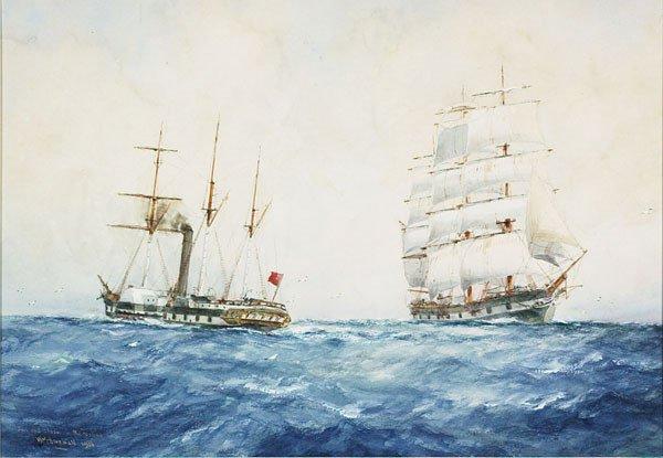 1017: American, William M. Birchall (1884-1941),SAIL