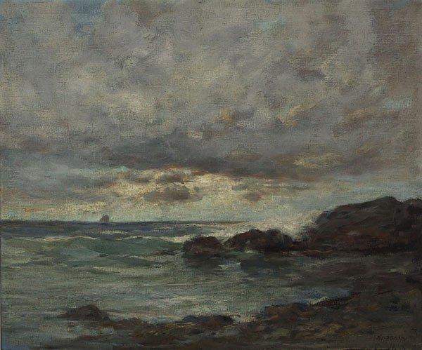1020: American,Charles P. Gruppe (1860-1940), BASS ROCK