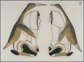 1401: Inuit Art KAKULU SAGIATUK, print
