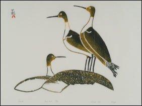 1402: Inuit Art ULAYU PINGWARTOK, print