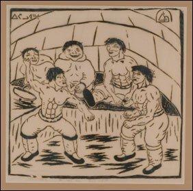 1403: Inuit Art HENRY EVALUARDJUK, print