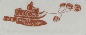 1406: Inuit Art JUANISIALU IRQUMIA, print