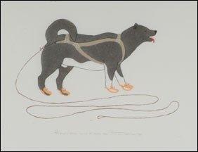 1407: Inuit Art PAULOSIE SIVUAK, print