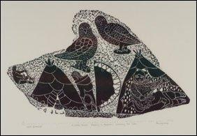 1408: Inuit Art LEAH QUMALUK, print