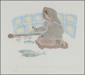 1410: Inuit Art SARAH PUTUGU, print