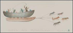 1411: Inuit Art JOSEA MANIAPIK, print