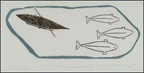 1412: Inuit Art JOHNNIE ANGUTIGULUK, print