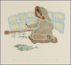 1413: Inuit Art SARAH PUTUGU, print