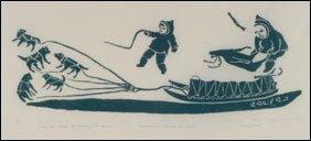 1416: Inuit Art JUANISIALU IRQUMIA, print