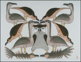 1418: Inuit Art KENOJUAK ASHEVAK, print