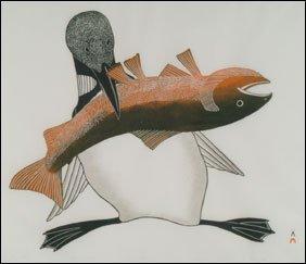 1421: Inuit Art KANANGINAK POOTOOGOOK, print