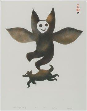 1423: Inuit Art EGEVADLUQ RAGEE, print