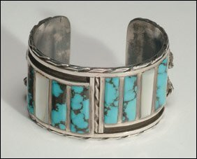 4: Native Art 2 sterling silver open bangles, the first