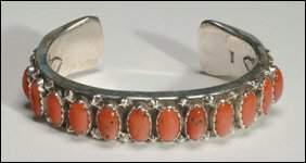 Native Art Navajo sterling silver open bangle formed