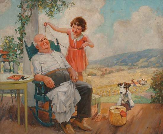 1013: American Art Arnold Hicks (fl. 1940's)