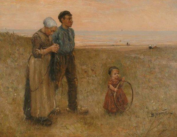 1256: Dutch Art Bernardus Joh. Blommers (18445-1914)