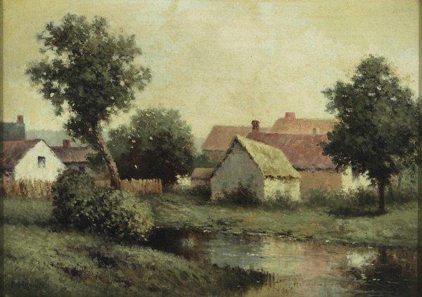 5: American, Milton H** Lowell (1848-1927), VILLAGE