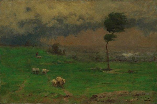 14: American, Walter Clark (1848-1917), HERDING SHEEP,