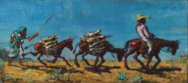 16: American,Philip Reisman (1904-1992), FIREWOOD TRAIN