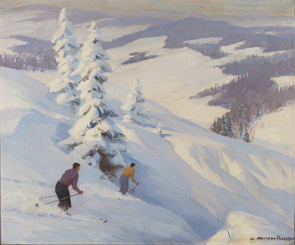 20: American, Albert S. Pennoyer (1888-1957), SKIERS