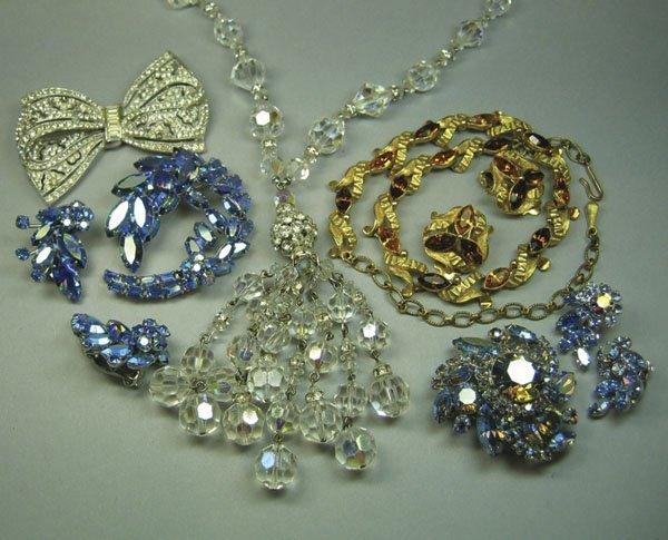 19: German Silver & Marcasite Bracelet & Qty Of Costume