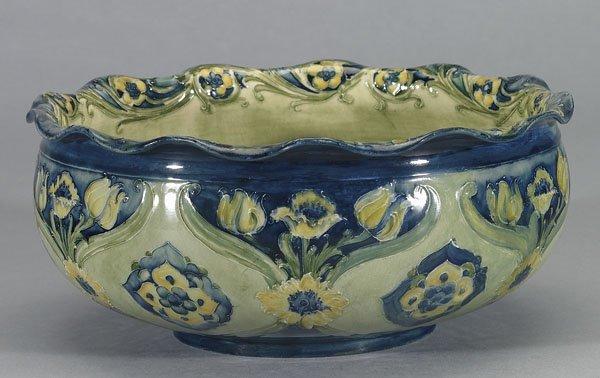 1023: Moorcroft Macintyre Florian Bowl, c.1905